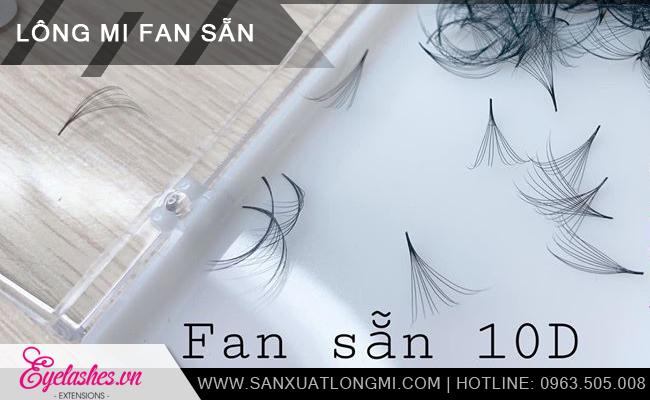 Xưởng sản xuất lông mi fan sẵn 10D